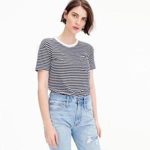 J. Crew Pocket T-Shirt Bodysuit in Stripe